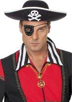 Piratenhoed volwassen zwart