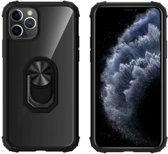BackCover Ring voor Apple iPhone 11 Pro Max (6.5) Transparant Zwart