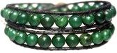 Wikkel armband classic B8 - Afrikaanse Jade