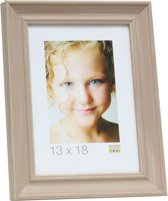 Deknudt Frames S46LF3  18x24cm Fotokader beige geschilderd in landelijke stijl
