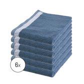 Byrklund Set Blauw - 6x Keukendoek 50x50cm