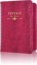 Paspoorthoesje / Paspoorthouder - V1 - Vintage Roze