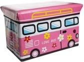 Cosy&Trendy for kids Kiddie Opbergzitbox - Love bus - 49 cm x 49 cm