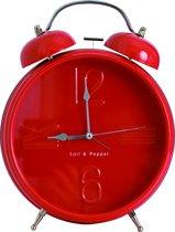 S&P ZONE klok 25cm wekkerfunctie (rood)