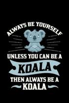 Always be yourself KOALA then always be a Koala: 110 pages Notebook/Journal