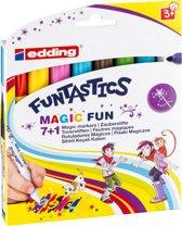 edding 13 Funtastics Magic Fun kinderviltstift. Set van 8 kleuren.