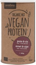 Vegan Protein Mix: Pea/rice - Fieldberry/açai (400 Gram) - Purasana