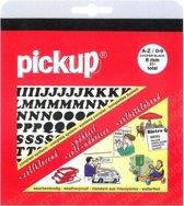 Pickup plakletters boekje Cooper 8mm letters + cijfers zwart