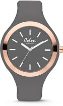 Colori Macaron 5 COL501 Horloge - Siliconen Band - Ø 44 mm - Grijs
