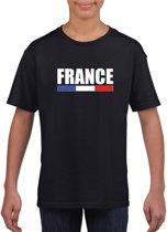 Zwart Frankrijk supporter t-shirt voor heren - Franse vlag shirts L (146-152)