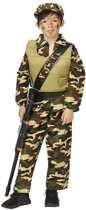 Kostuum leger jongen action air force met pet - Maat 164