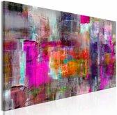 Schilderij - Land van Kleuren , multi kleur