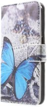Book Case Hoesje Samsung Galaxy S6 - Blauwe Vlinder