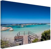 FotoCadeau.nl - Strand Australie Canvas 120x80 cm - Foto print op Canvas schilderij (Wanddecoratie)