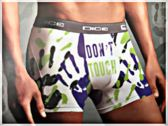 DICE Underwear Heren Boxer all over print Don't Touch, maat L