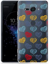 Xperia XZ2 Compact Hoesje Doodle hearts