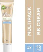 Garnier Skinactive Face Skin Active BB Cream Anti Glans Medium - 3 x 40ml - Voordeelverpakking
