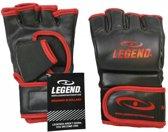 Legend Flow MMA handschoenen of Bokszak handschoenen Zwart/Rood  M