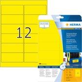 HERMA 8029 Geel Zelfklevend printerlabel printeretiket