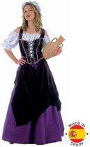 Middeleeuwen & Renaissance Kostuum | Klassiek Horeca Herbergier Lutetia | Vrouw | Maat 46 | Bierfeest | Verkleedkleding