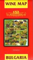 Touristischekaart - landkaart / wegenkaart Bulgarije Met 152 wijnhuizen