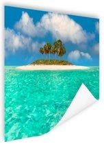 Caribisch eiland  Poster 150x75 cm - Foto print op Poster (wanddecoratie woonkamer / slaapkamer) / Zee en Strand