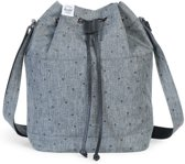 Herschel Supply Co Carlow Women Schoudertas Scattered Raven Crosshatch Black Pebbled Leather