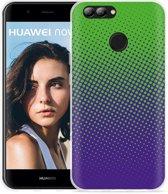 Huawei Nova 2 Hoesje lime paarse cirkels