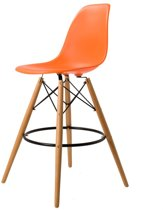 Design barkruk DD DSW barkruk mat PP oranje kuipstoel