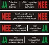 Nee ja brievenbus sticker/ Ja ja sticker / Nee nee sticker