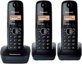 Panasonic KX-TG1613 - Trio DECT telefoon - Zwart