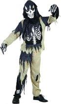 Zombie skelet pak voor kinderen 140 - 8-10 jr