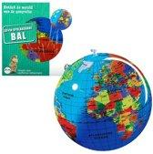 Carly Toys Globe Opblaasbare Wereldbol 30 cm Nederlands