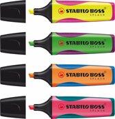 STABILO BOSS® SPLASH® - Etui 4 Kleuren