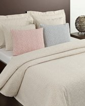 Sprei Bristol 1 zand/beige Lits-jumeaux 270x260 cm / Cevilit City Collection