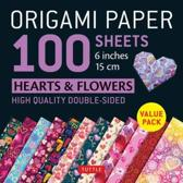 Origami Paper 100 sheets Hearts & Flowers 6 (15 cm)