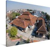 Straatbeeld van de stad Semarang in Indonesië Canvas 180x120 cm - Foto print op Canvas schilderij (Wanddecoratie woonkamer / slaapkamer) XXL / Groot formaat!