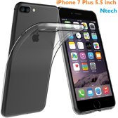 iPhone 7 Plus (5.5 inch)  2016 crystal clear Hybrid bumper ultra thin silicone hoesje - Ntech