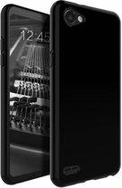 Zwart TPU Siliconen Case Hoesje voor LG Q6