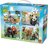 Animal World 4- in-1 puzzel