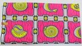 Roze Afrikaanse stof met een mooi patroon (VBL12)