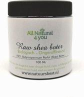 Shea Butter | Sheabutter | Raw | Biologisch & ongeraffineerd | Voor de droge tot zeer droge huid | Verpakt in glazen bruine pot om de inhoud te beschermen tegen (zon)licht | Deze ongeraffineerde Shea Butter heeft een sterke nootachtige geur