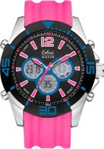 Colori Urban 5 CLD066 Digitaal Horloge - Siliconen Band - Ø 47 mm - Roze