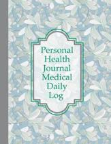 Personal Health Journal Medical Daily Log