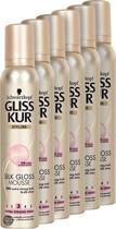 Gliss Kur Mousse Silk Gloss - 6 st - voordeelverpakking