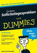 Voor Dummies - De kleine sollicitatiegesprekken