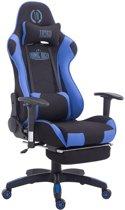 Clp TURBO - Bureaustoel - met voetsteun - stof - zwart/blauw