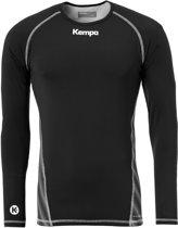 Kempa Attitude LS  Sportshirt performance - Maat 140  - Unisex - zwart