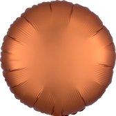 Folieballon Cirkel Oranje Matte - 48 Centimeter
