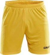 Craft Squad Short Solid Heren Sportbroek - Maat L  - Mannen - geel/zwart